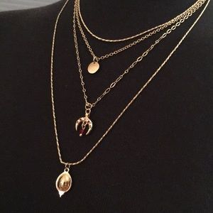 Topshop layered gold necklace